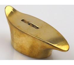 Гарда обоюдная гладкая №445 (25,5 мм) - мельхиор, латунь