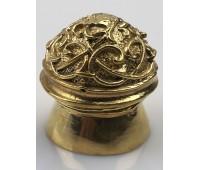 Пятка - набалдашник с узором №237 (23,5 мм)- мельхиор, латунь